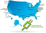 Ford's top 25 EV ready cities